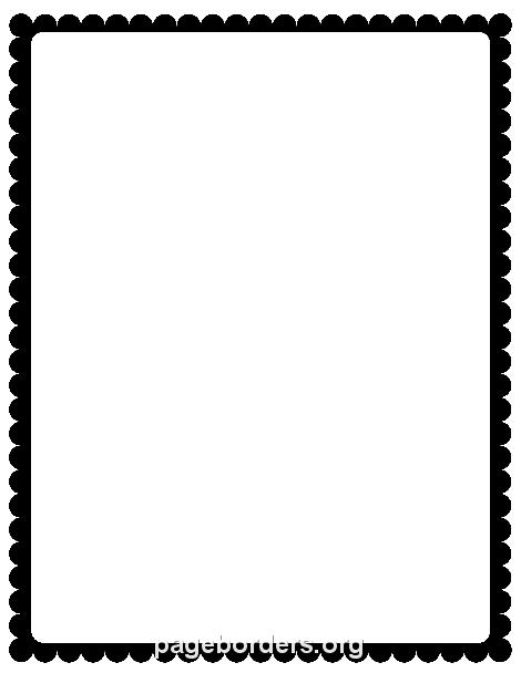 470x608 Black Scalloped Border Clip Art, Page Border, And Vector Graphics