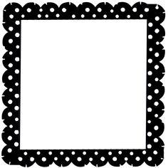 236x236 School Theme Border Clipart Green Scalloped Frame
