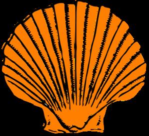 298x273 Orange Seashell Clip Art