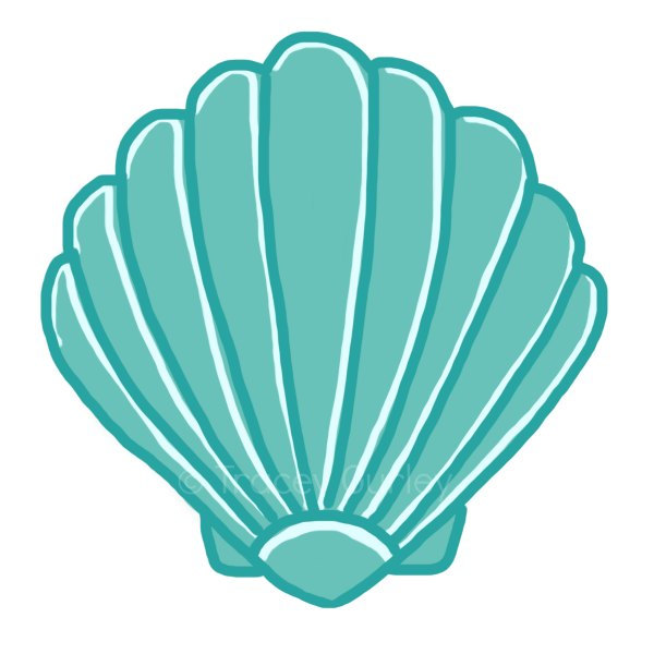 600x600 Scallop Shell Clip Art