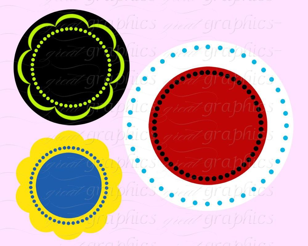1000x800 Circle Frame Dot Circle Clip Art Scallop Frame Clip Art Digital
