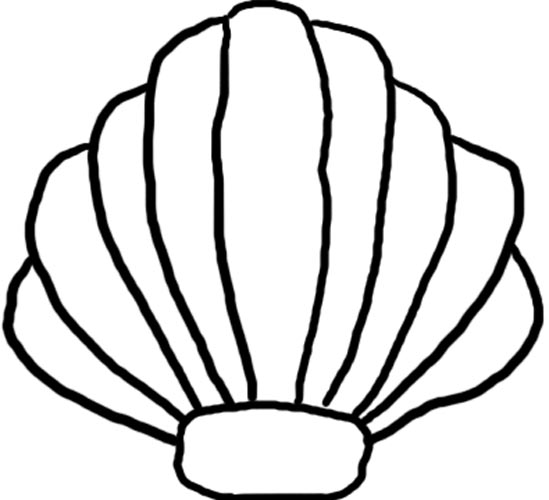 549x500 Scallop Shell Clip Art