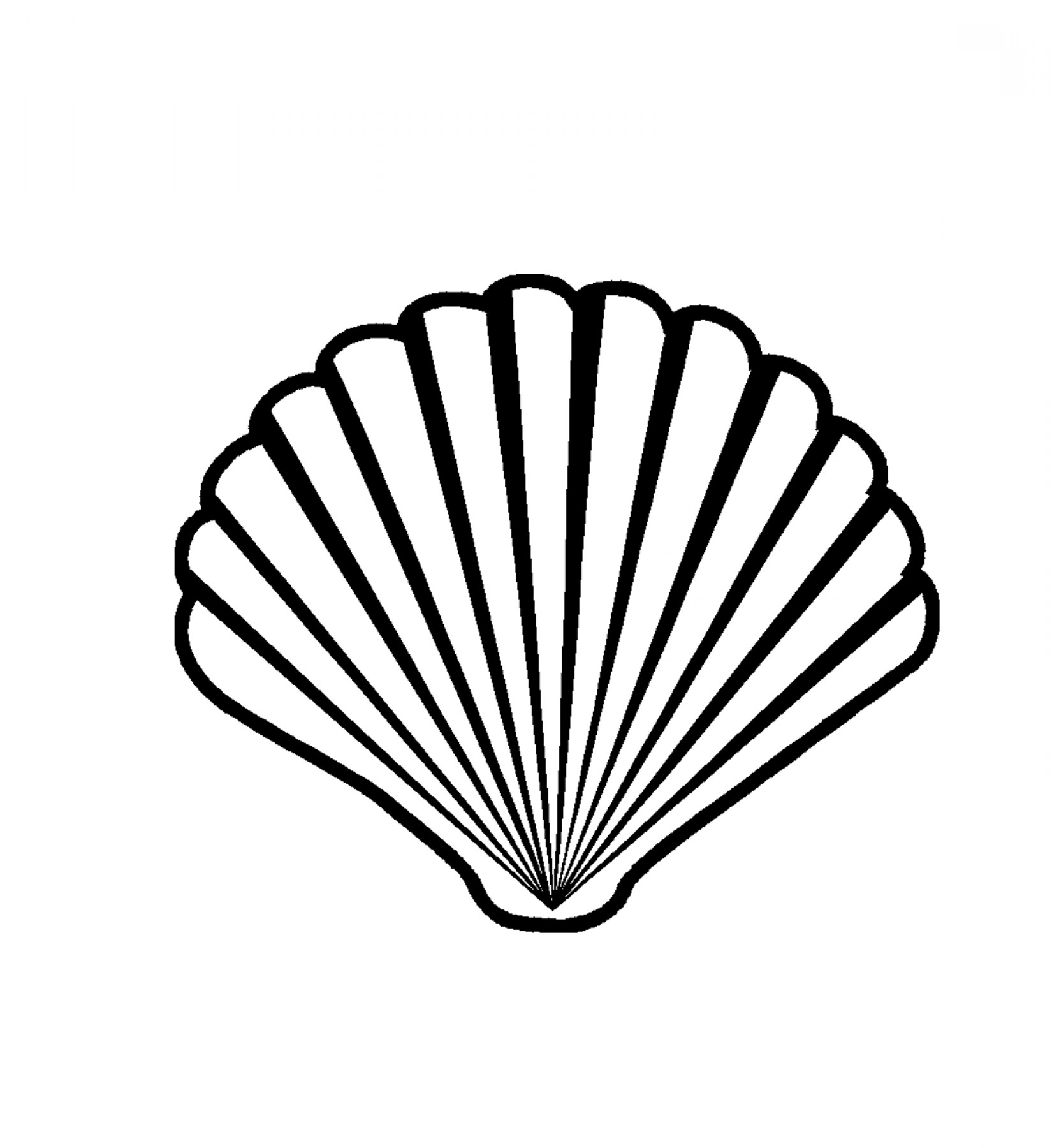 1650x1800 Scallop Shell Clipart, Free Scallop Shell Clipart