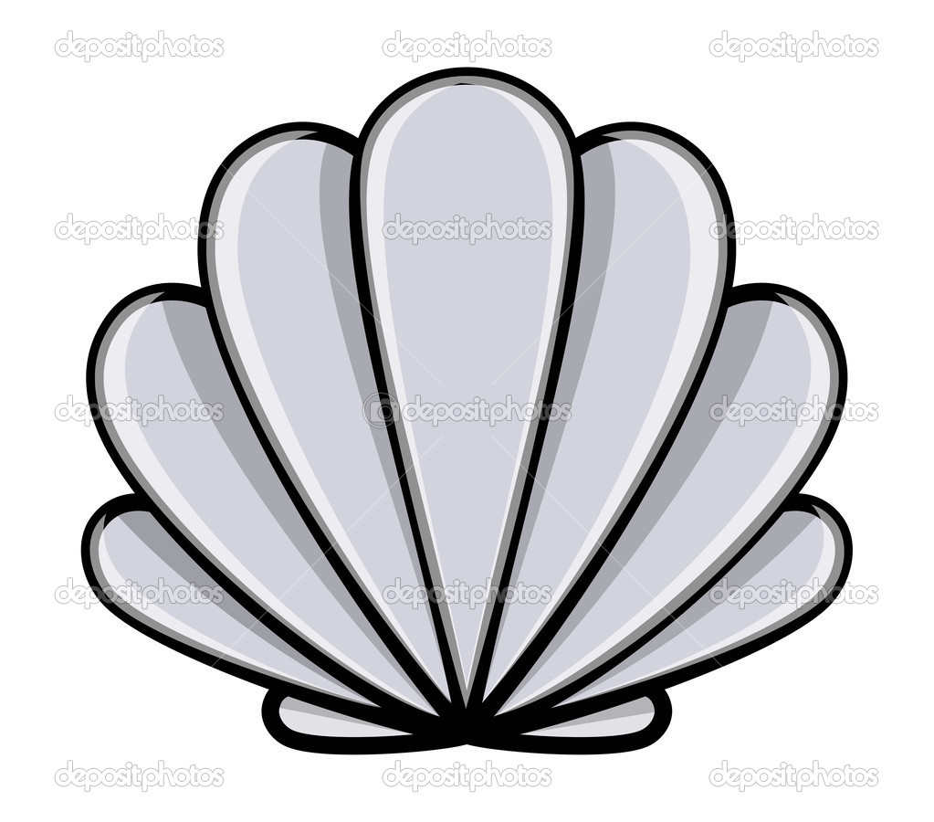 1023x900 Shell Outline Clip Art