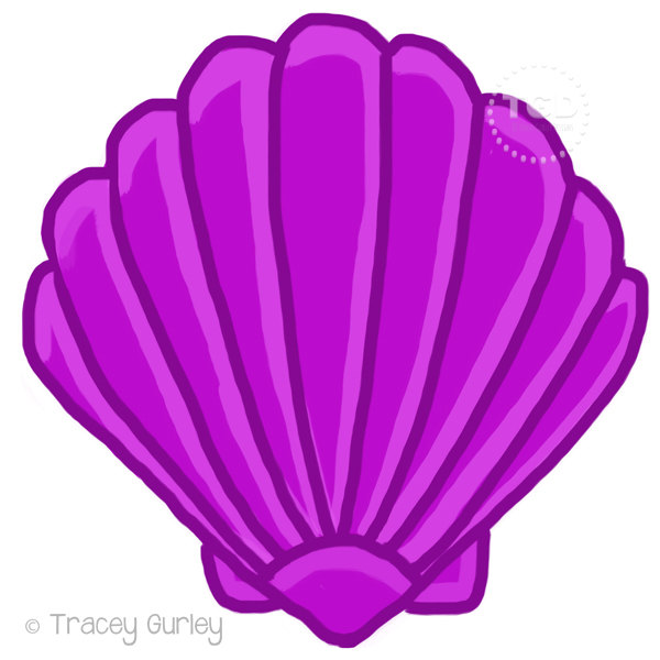 600x600 Clams Clipart Scallop Shell