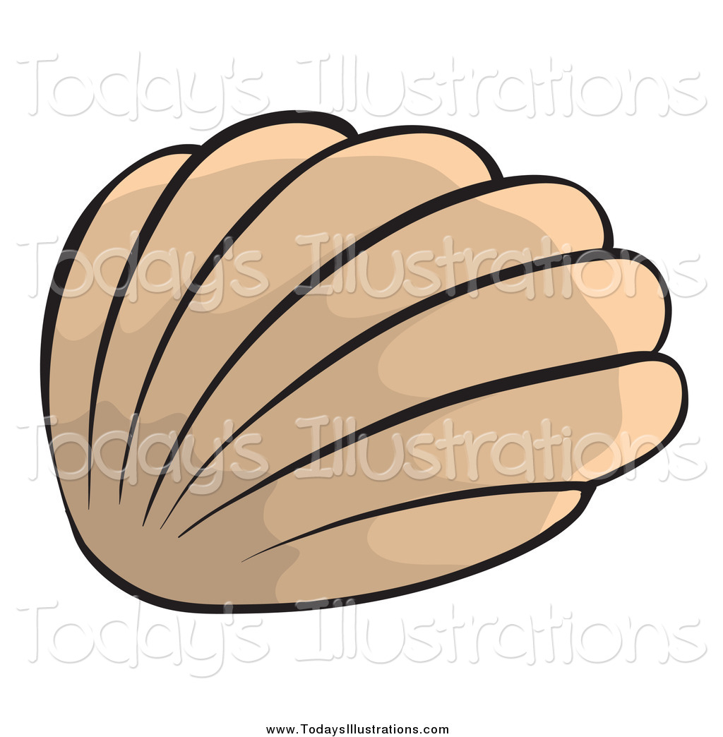 1024x1044 Clipart Of A Scallop Seashell By Graphics Rf