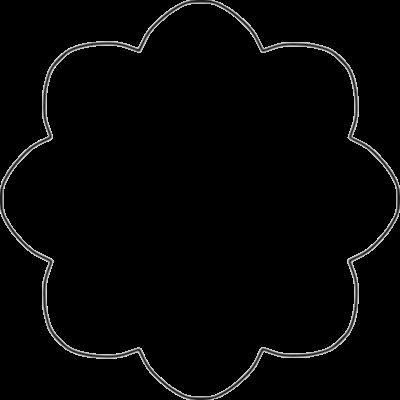 400x400 Flower Shape Clipart