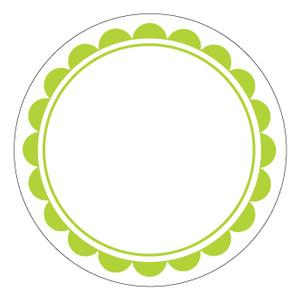 300x300 Free Scalloped Circle Border Clip Art
