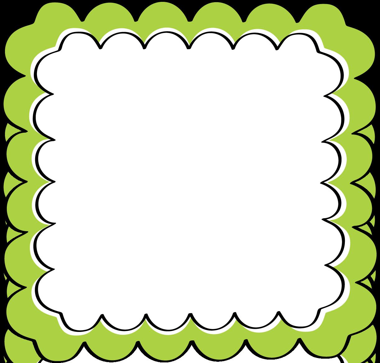 1222x1168 Green Scalloped Frame