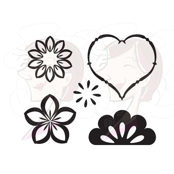 570x570 Papel Picado Digital Clip Art Banner Love Hearts Bird Floral