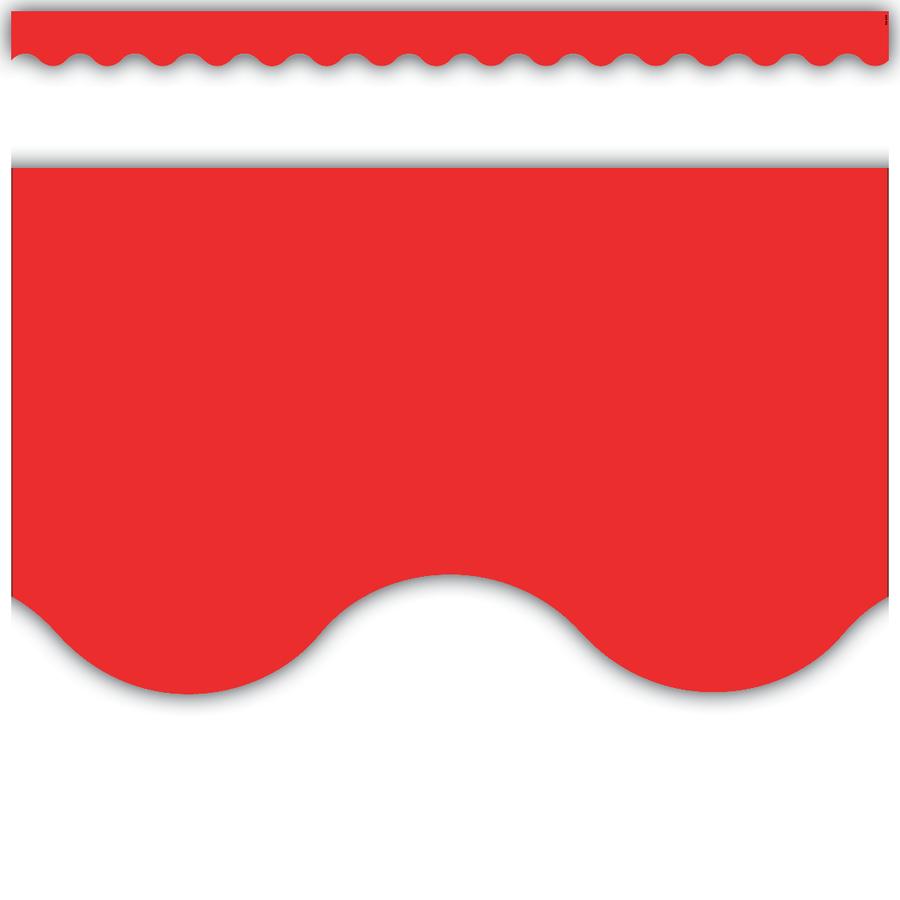 900x900 Red Scalloped Border Trim