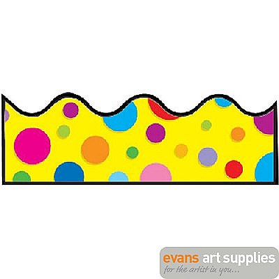 400x400 Scalloped Border Colourful Dot