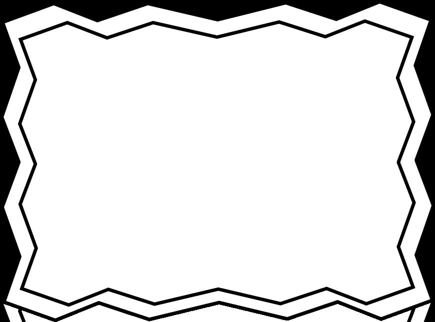 871x645 Zig Zag Border Clip Art