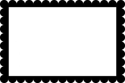 400x266 Scalloped Border Clipart