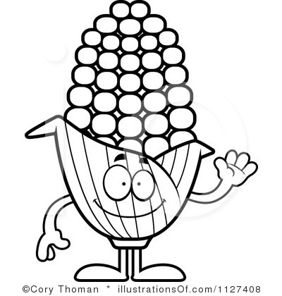 400x420 Corn Clipart Black And White Clipart Panda