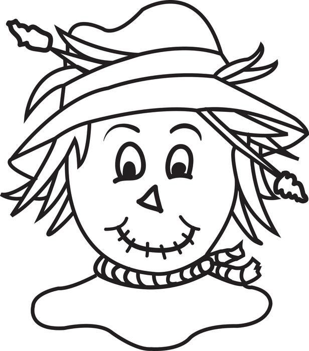 616x700 Scarecrow Coloring Pages