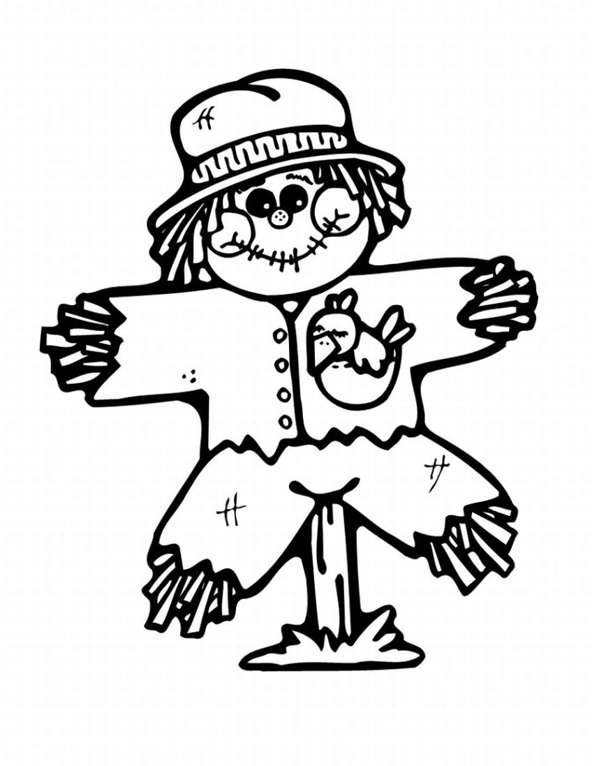 848x1097 Scarecrow Clipart Black And White