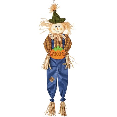 400x400 The Holiday Aisle Hanging Fabric And Straw Scarecrow Figurine