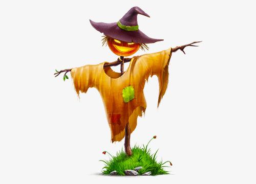 500x360 Halloween Pumpkin Scarecrow, Halloween, Pumpkin, Hat Png Image
