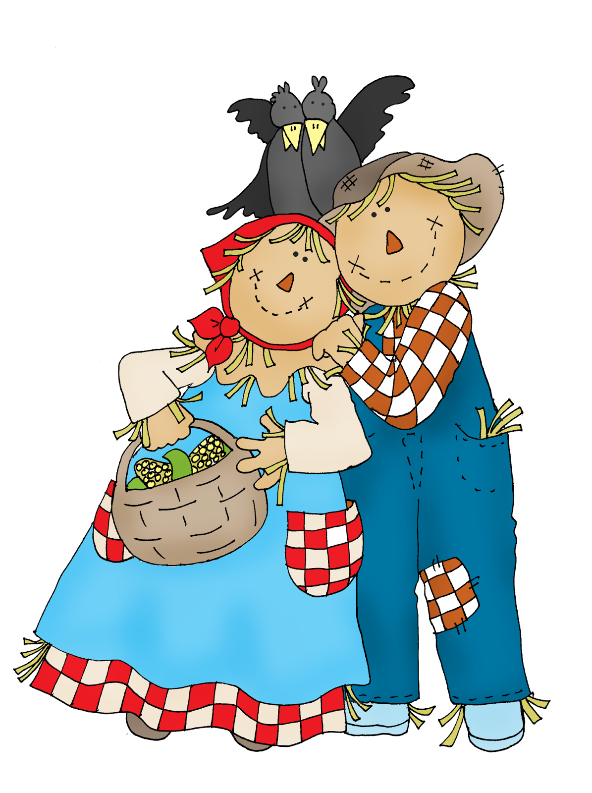 1195x1600 Free Dearie Dolls Digi Stamps Scarecrow Couple