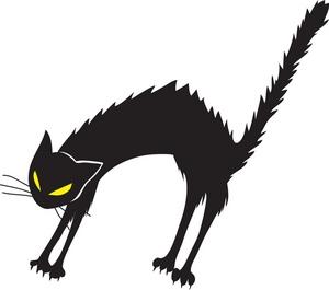300x265 Black Cat Clipart Image