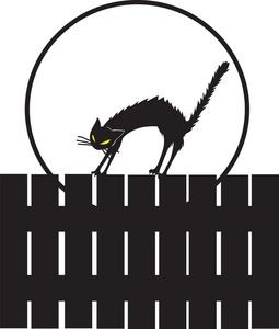 255x300 Black Cat Clipart Image