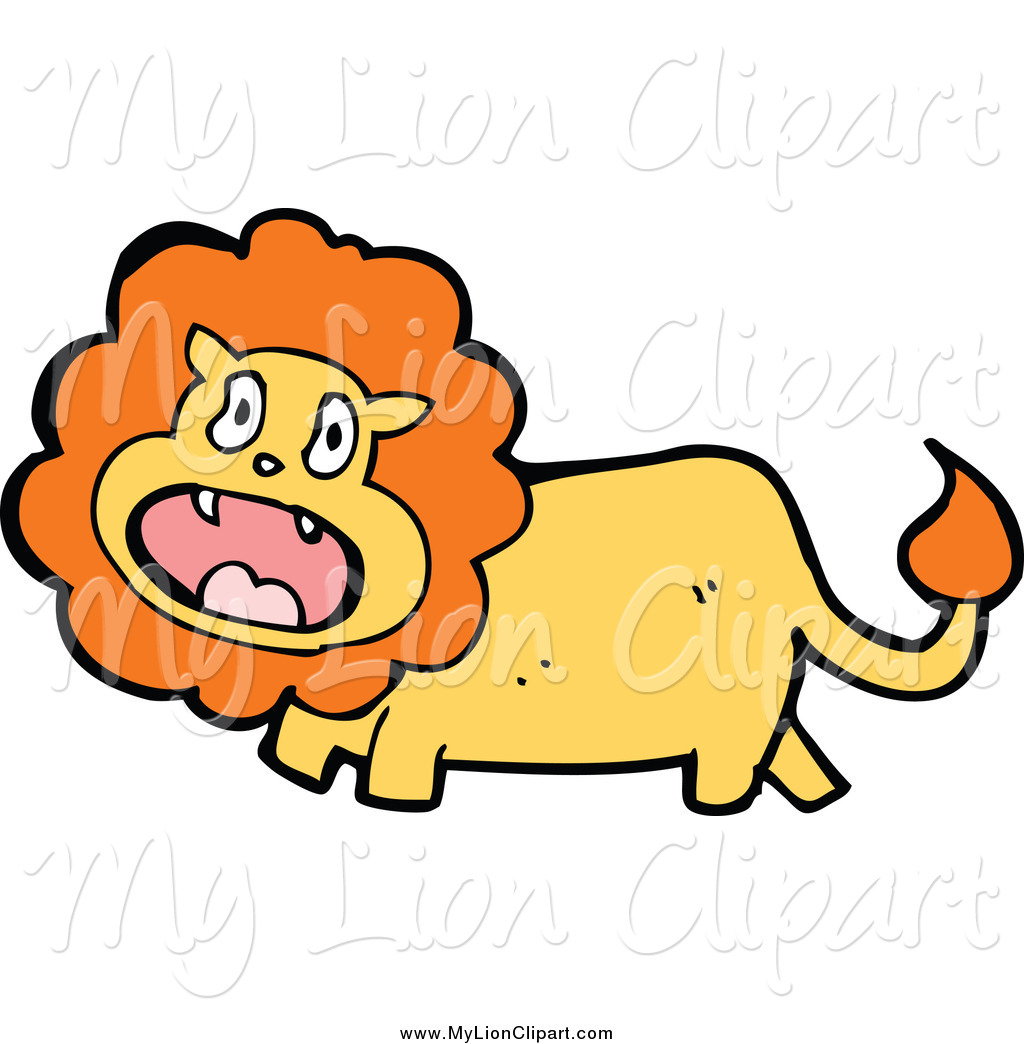 1024x1044 Clipart Of A Scared Lion By Lineartestpilot