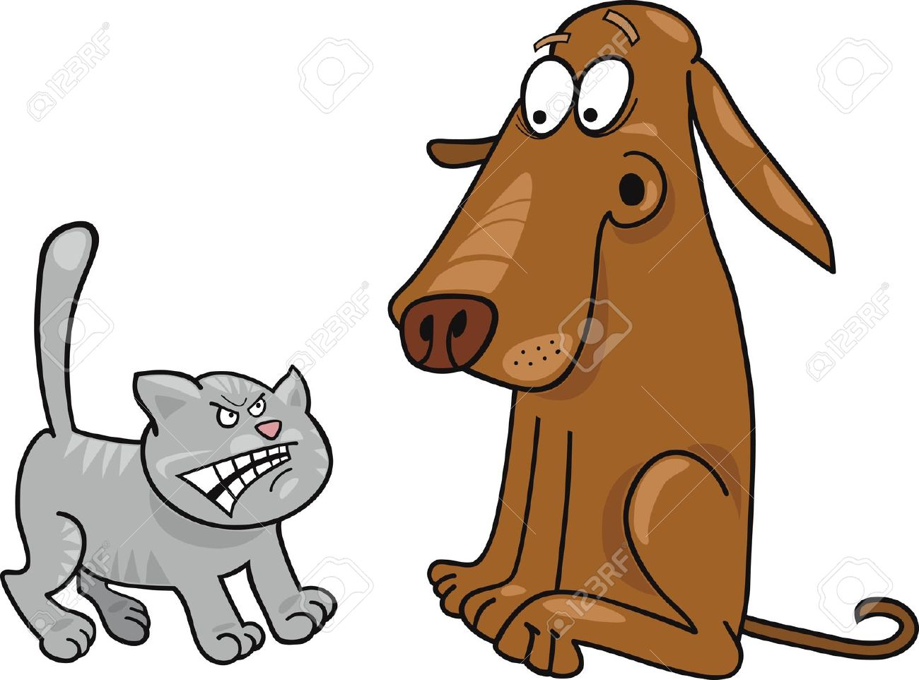 1300x962 Kittens Clipart Scared