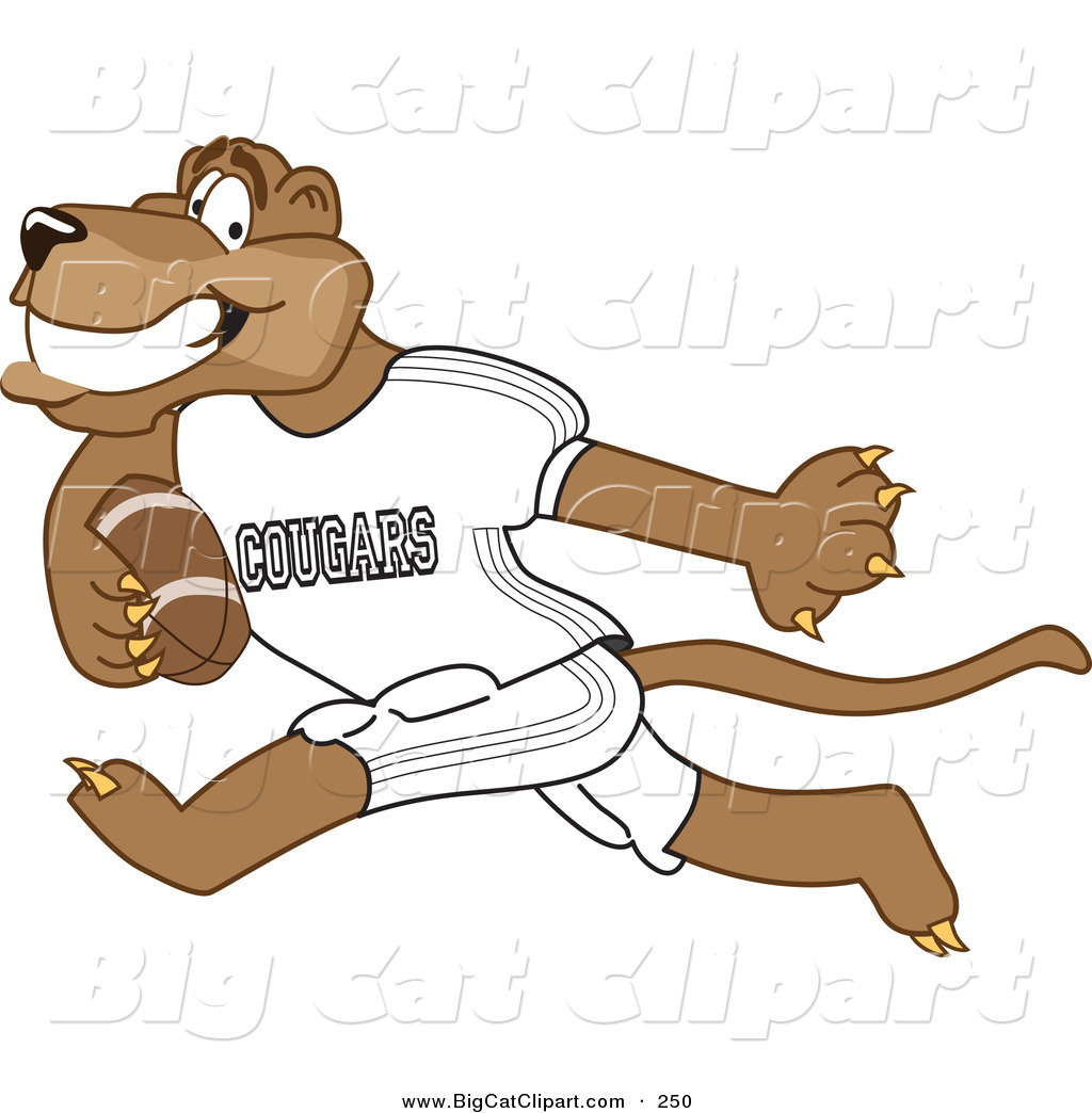 1024x1044 Big Cat Cartoon Vector Clipart Of A Grinning Cougar Mascot