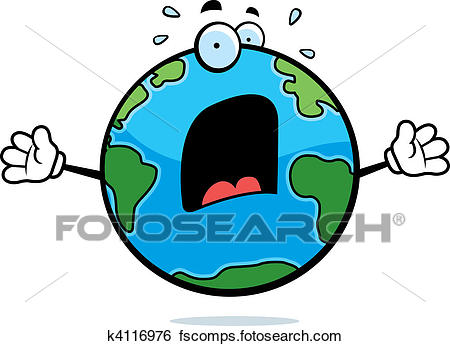 450x346 Clip Art Of Scared Earth K4116976