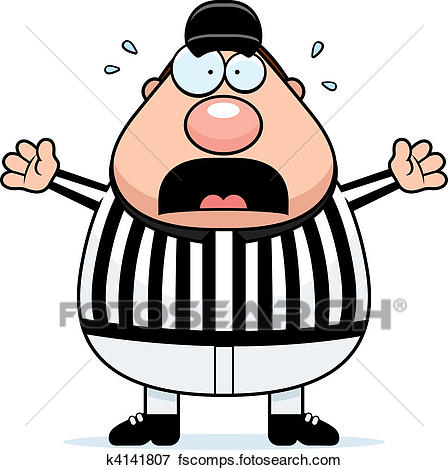 448x470 Clip Art Of Scared Referee K4141807
