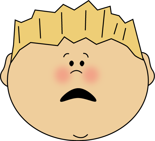 531x486 Scared Face Boy Clip Art
