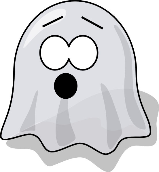 552x598 Scared Ghost Clip Art