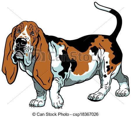 450x403 Clipart Hound Dogs