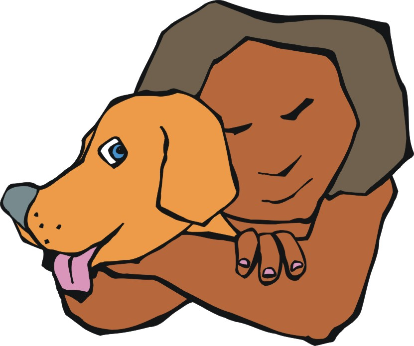 831x695 Dog Cartoon Image