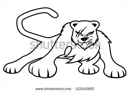 450x320 Panther Clipart Scared