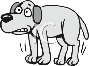 350x262 Royalty Free Clipart Image Scared Dog Shivering
