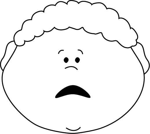 518x462 Mad Face Scared Faces Clip Art