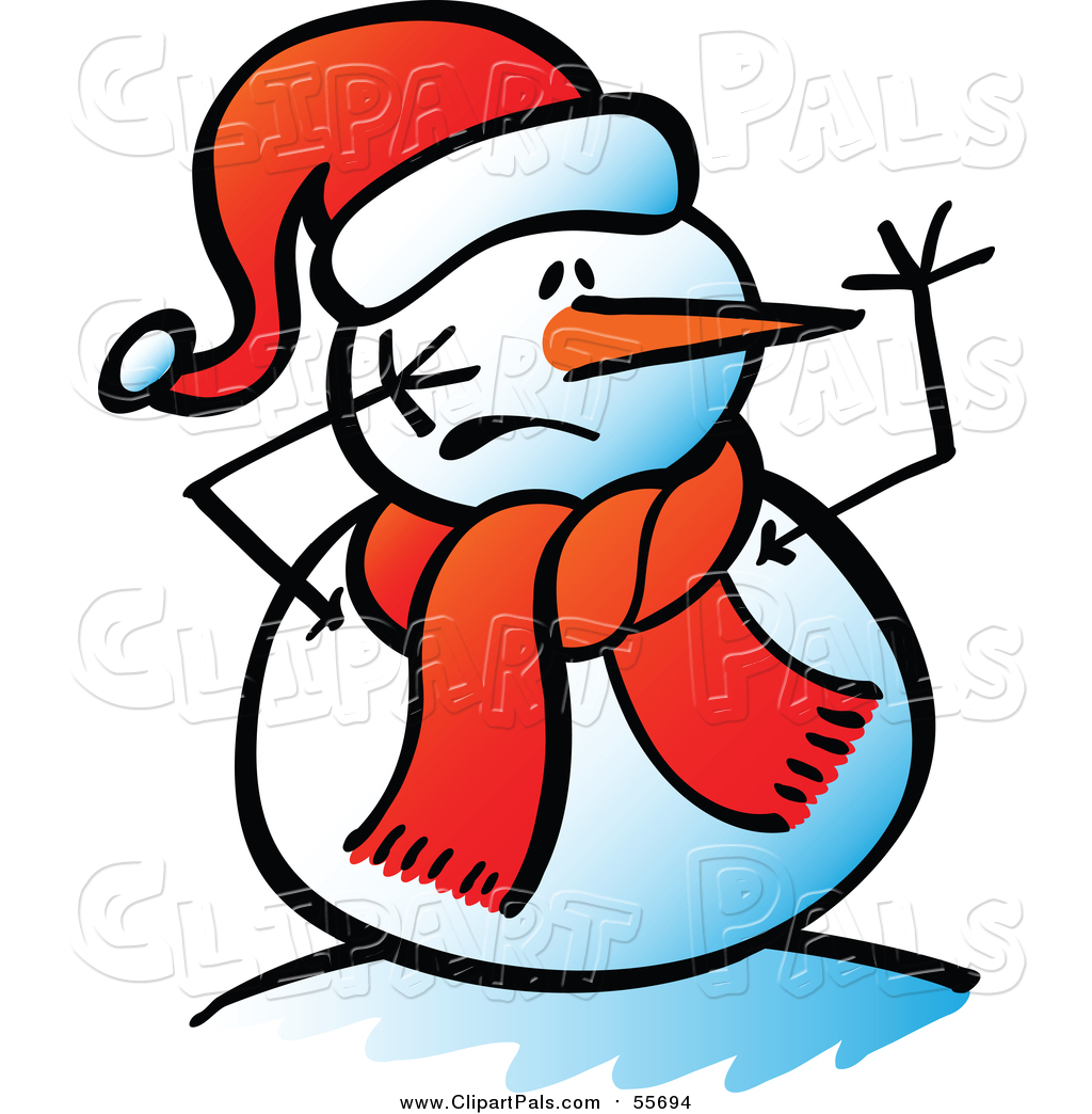 1024x1044 Pal Clipart Of A Snowman With A Scared Face By Zooco