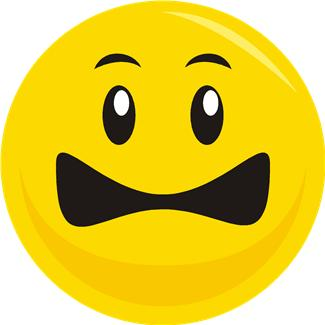 325x325 Scared Frown Face Clipart