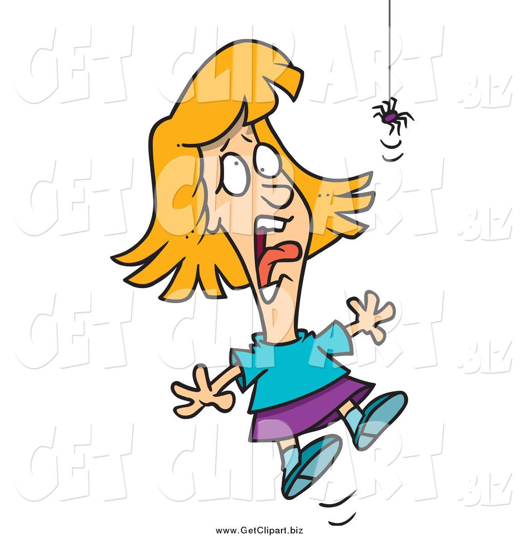 1024x1044 Clip Art Of A Blond Girl Screaming