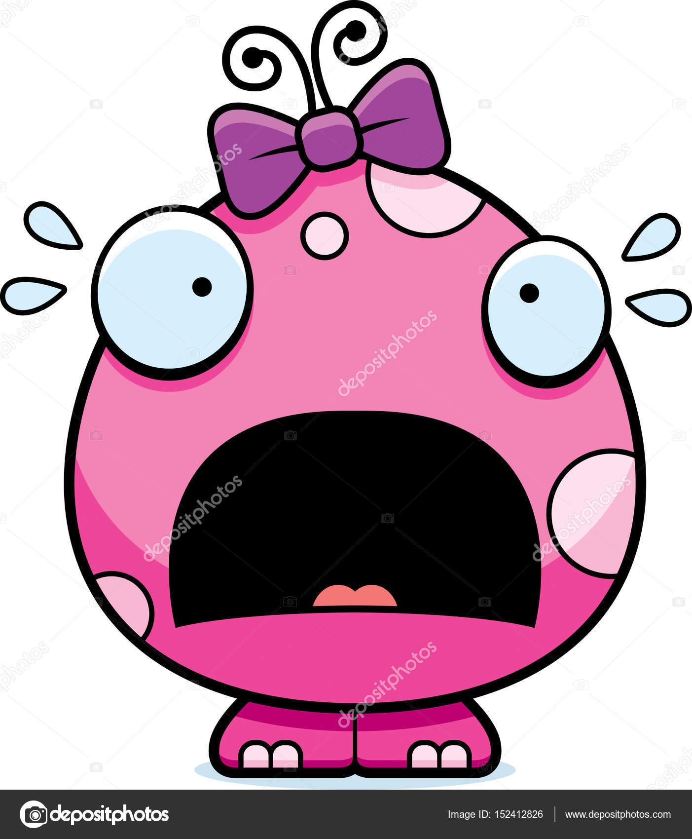 1403x1700 Scared Cartoon Baby Girl Monster Stock Vector Cthoman