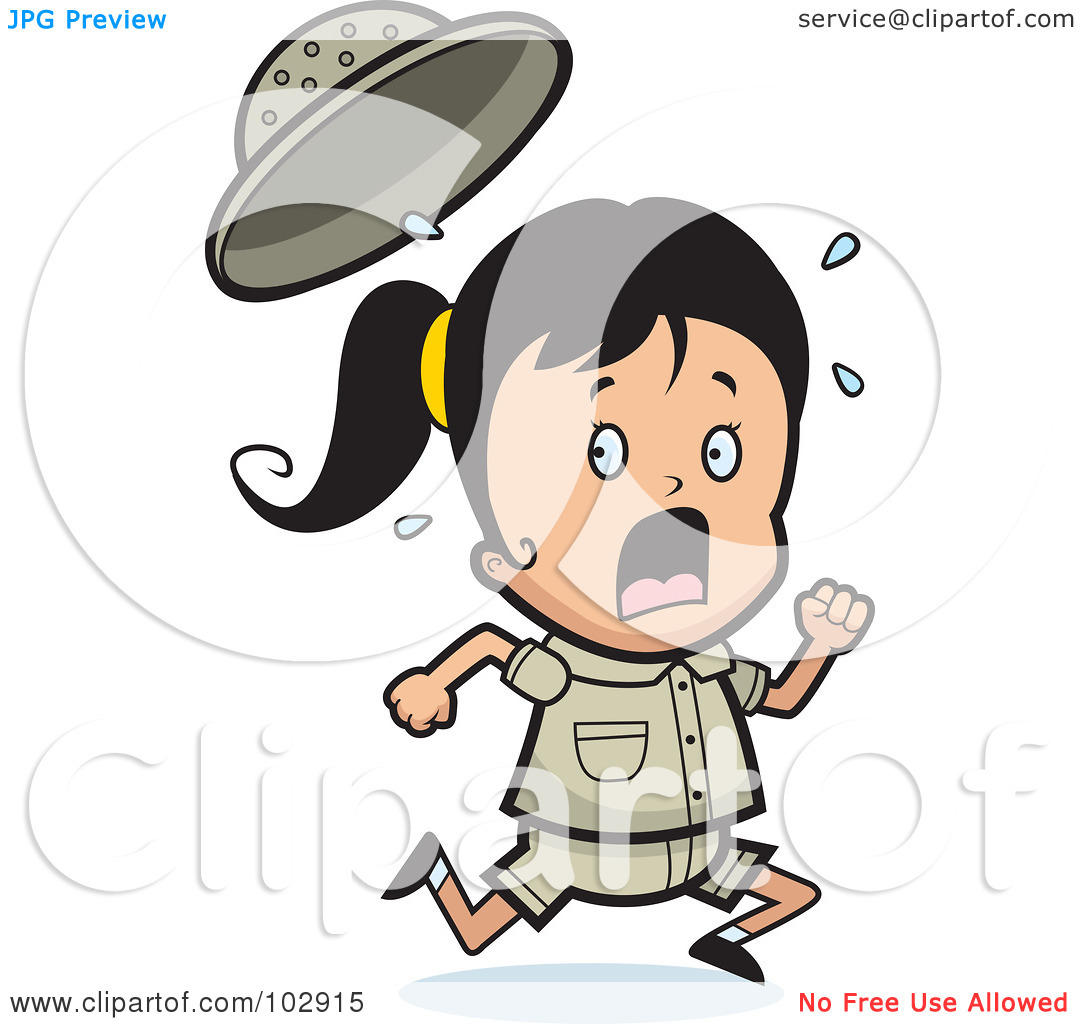 1080x1024 Scared Running Clipart