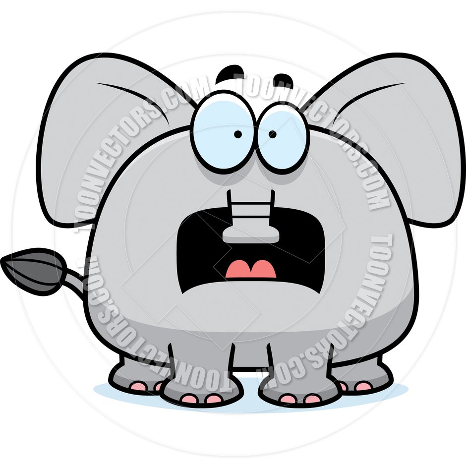 940x940 Elephant Clipart Scared