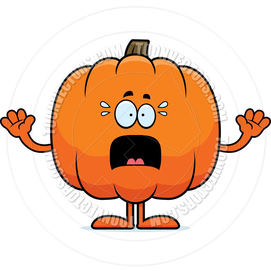940x940 Cartoon Pumpkin Scared By Cory Thoman Toon Vectors Eps