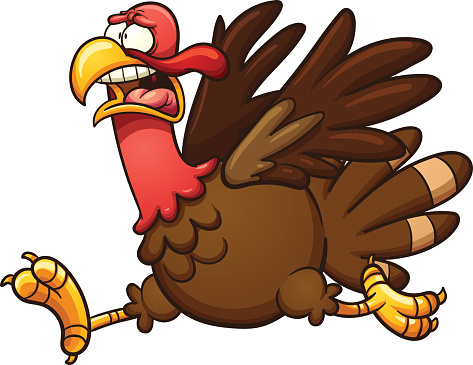 473x365 Running Turkey Clipart