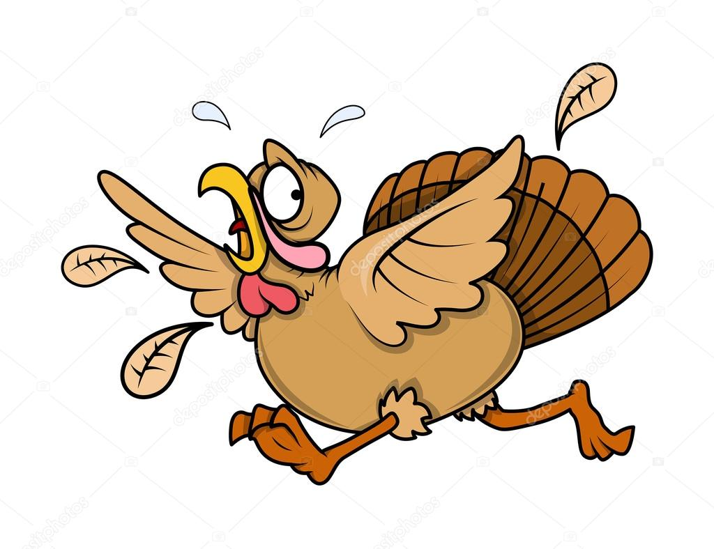 1024x788 Scared Turkey Bird Running Stock Vector Baavli