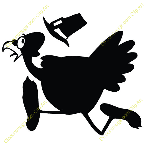 500x500 Turkey Running Away Clipart