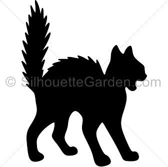 336x334 Black Cat Clipart Creepy