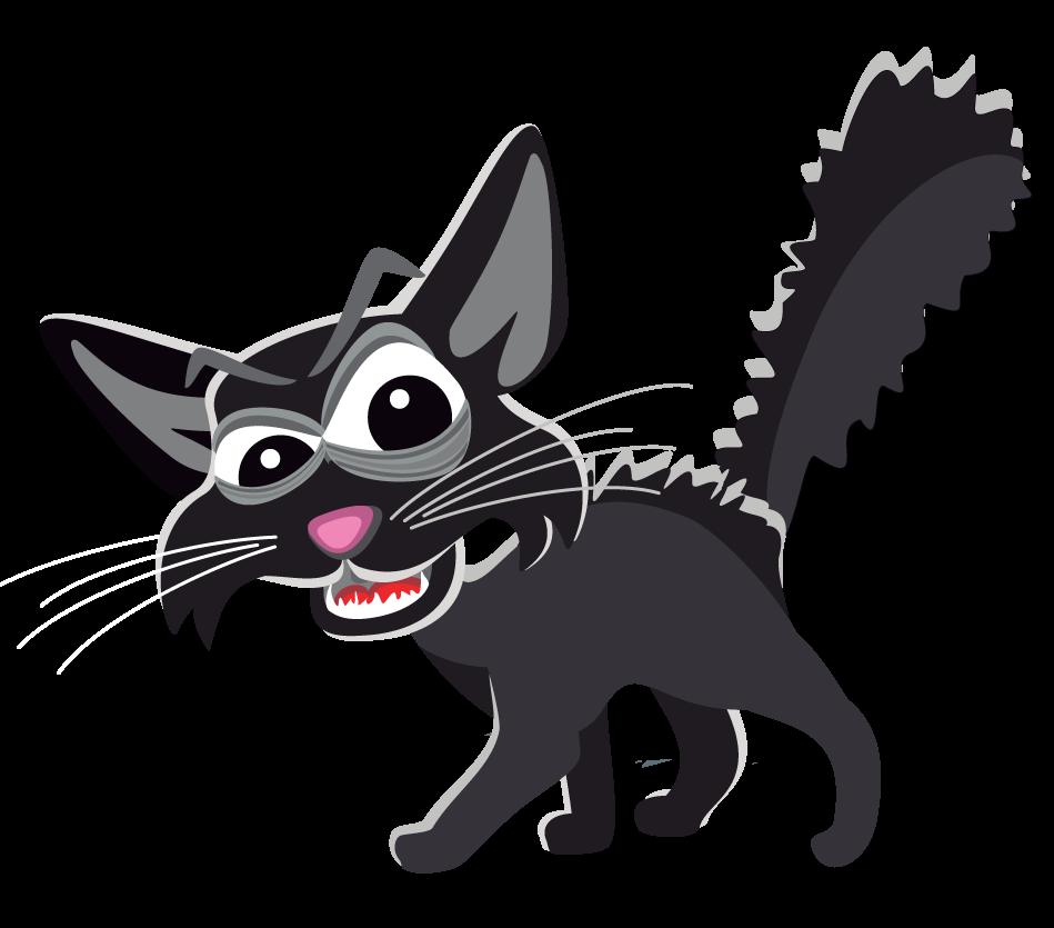 949x835 Black Cat Clipart Scared